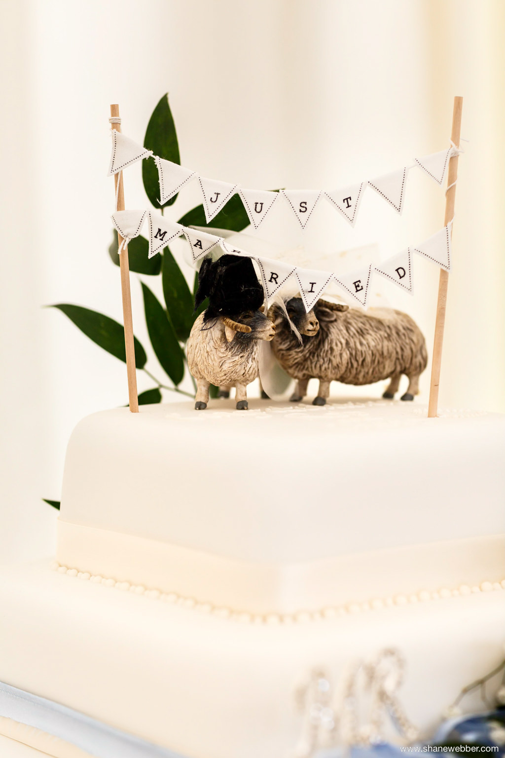 farm wedding cake topper