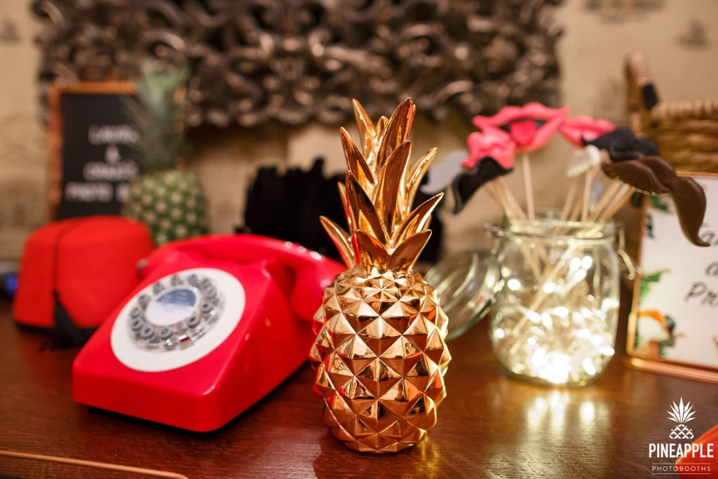 Pineapple Photo Booths props