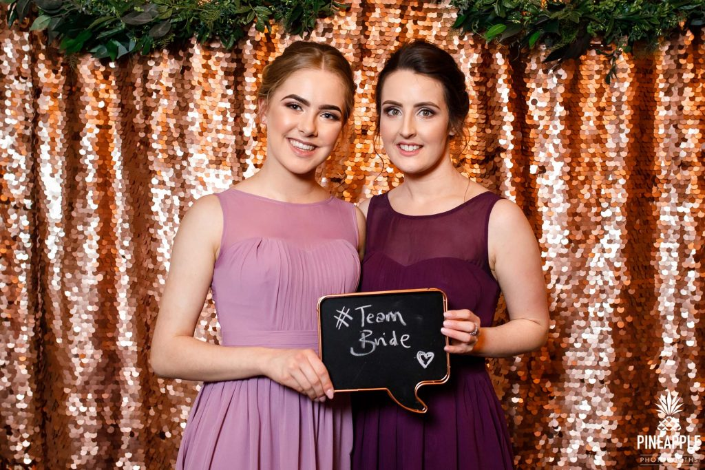 team bride photo booth sign