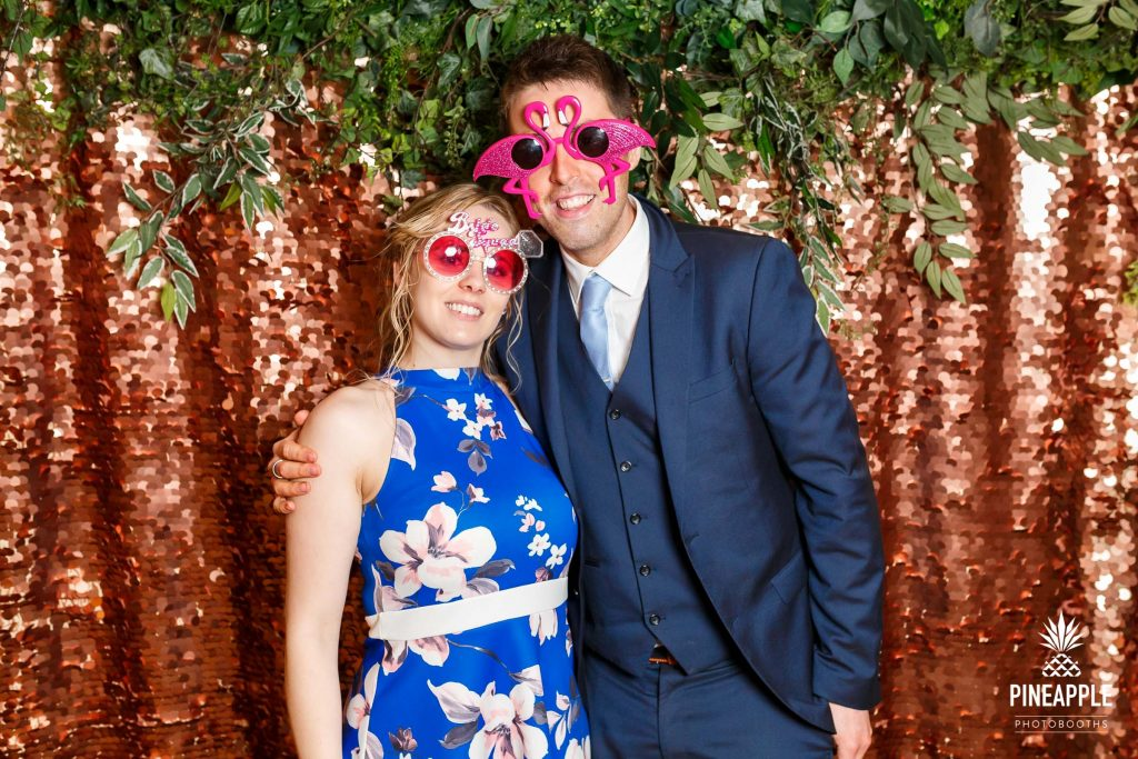 flamingo sunglasses photo booth